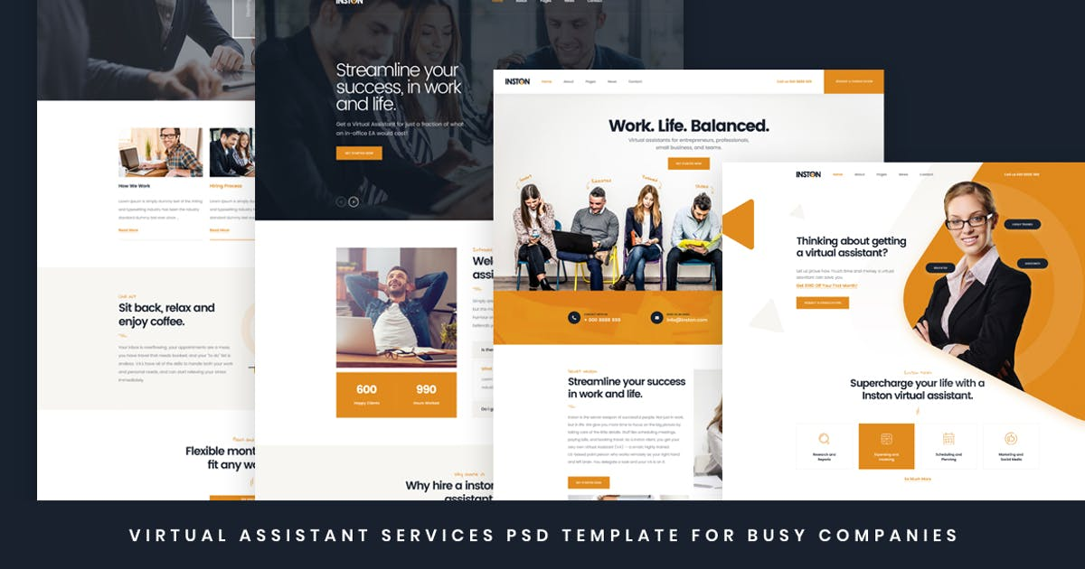 Download Inston - Virtual Assistant Services HTML Template by Layerdrops