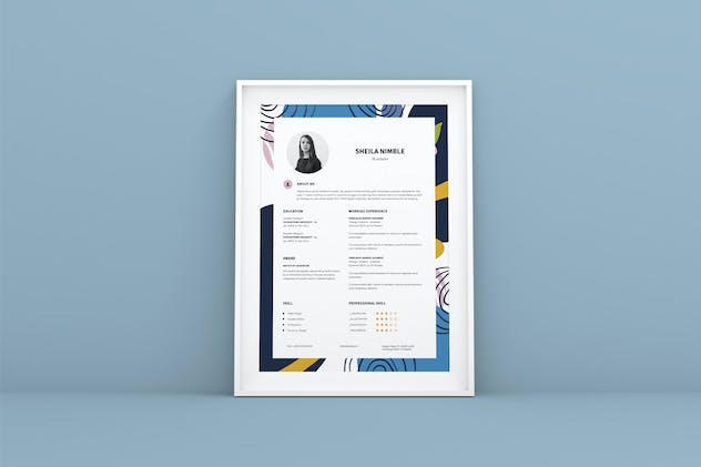 Creative Resume CV Design Template - product preview 4
