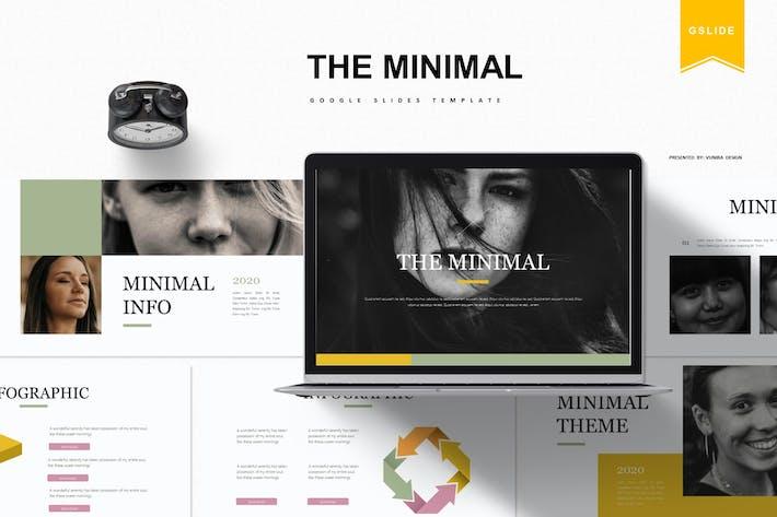 Thumbnail for Минимальный | Шаблон слайдов Google