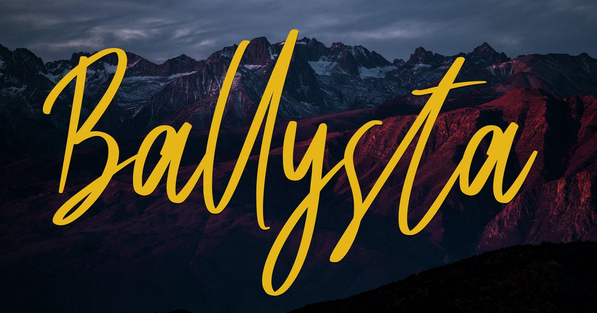Download Ballysta Beauty Script Font by Skiiller_studio