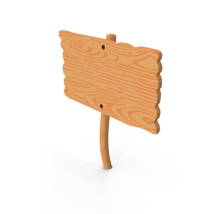 Cartel de madera de dibujos