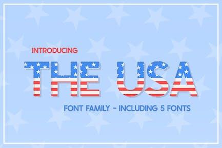 La familia tipográfica de Estados Unidos