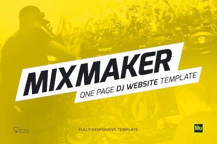 MixMaker - DJ / Producer Website Template
