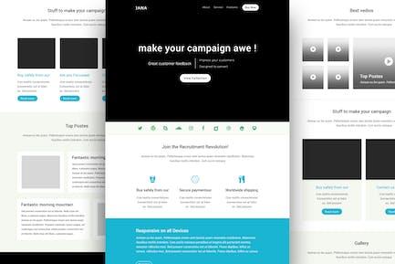 Jana - Modern Email Template + Online Builder
