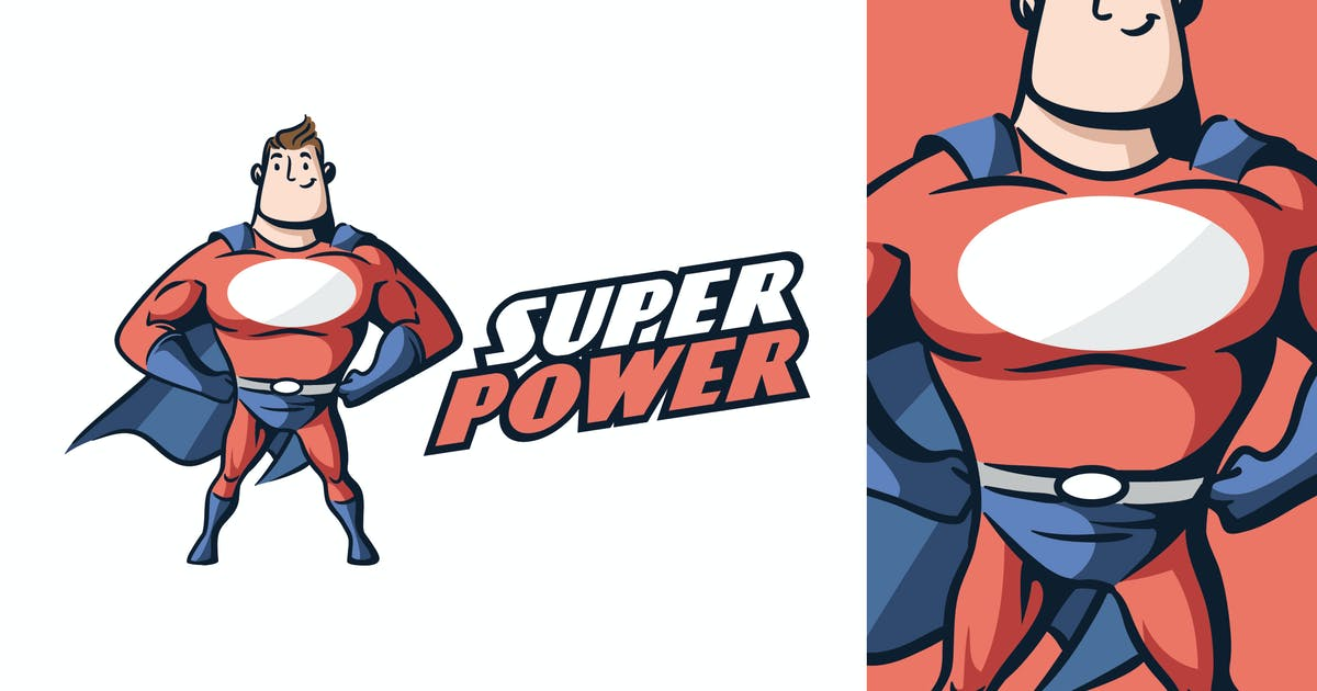 Download Cartoon Retro Vintage Superhero Mascot Logo by Suhandi