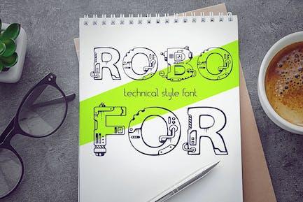 RoboFor\_Mechanical engineering font