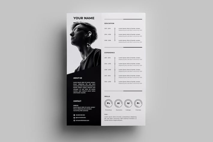 Thumbnail for Resume Design Templates.04