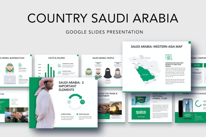 Cover Image For Country Saudi Arabia Google Slides Template
