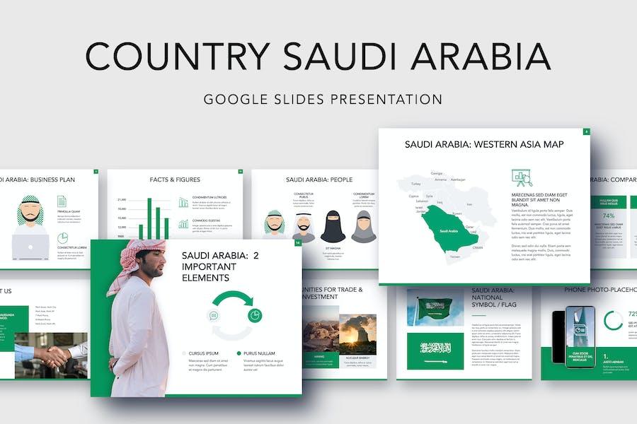 Country Saudi Arabia Google Slides Template