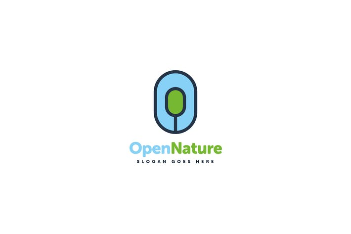 Thumbnail for Open Nature Logo O Letter Template