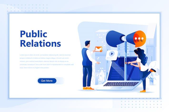 Thumbnail for En-tête de page de destination plat Relations publiques