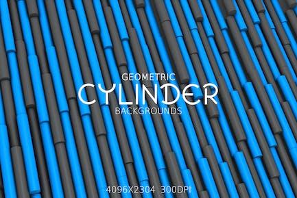Geometrische ZylinderHintergründe