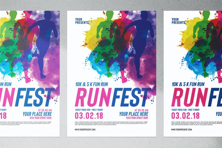 marathon event flyer by vynetta on envato elements