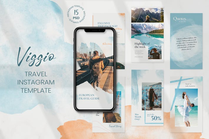 Viggio - Travel Instagram Stories Template