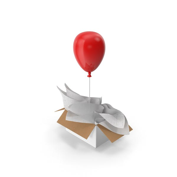 Red Balloon Gift Box