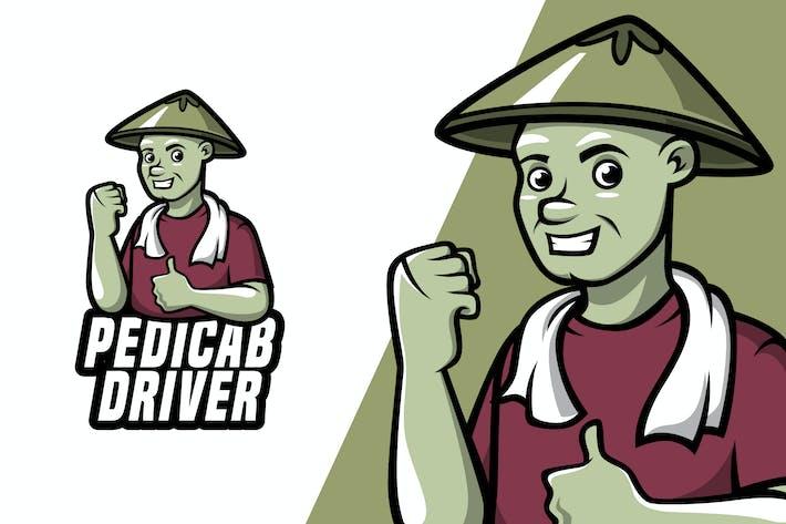 Thumbnail for Pedicab Driver - Mascot Logo Template