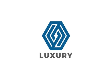 Logo Hexagon Rhombus Luxury Jewelry Corporate