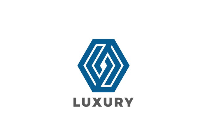 Logo Hexagon Rhombus Luxury Jewelry Corporate