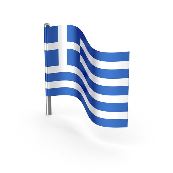 Greece Cartoon Flag