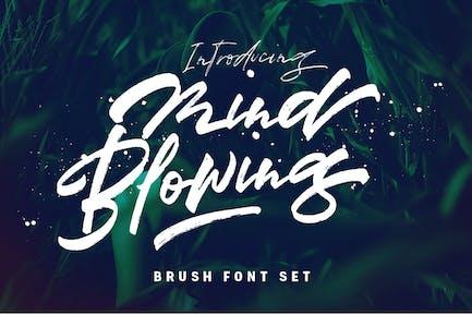 Mind Blowing 3 Brush Font Logotype