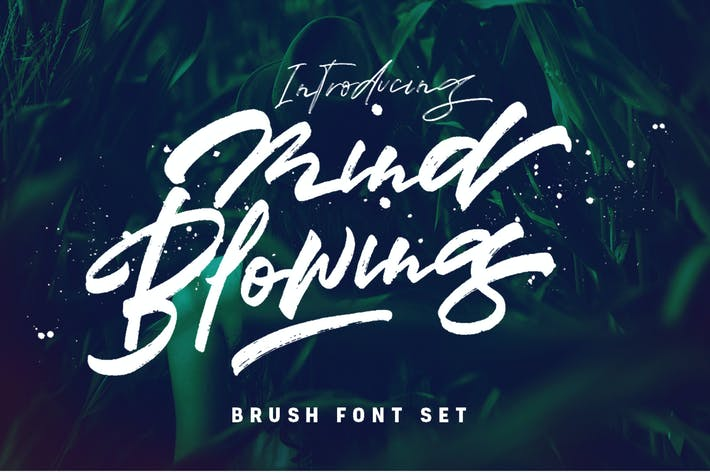 Thumbnail for Mind Blowing 3 Brush Font Logotype