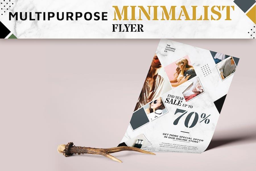 Multipurpose Minimalist Flyer