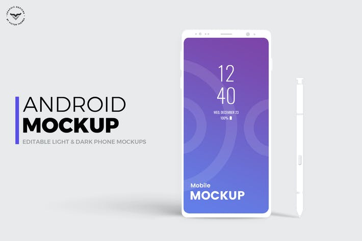 Cover Image For Android Mobile Mockups