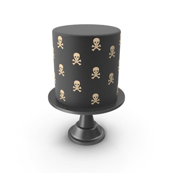 Helloween Cake with Skulls and Crossdones
