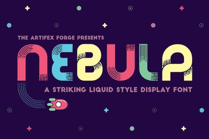 Thumbnail for Nebula - A Liquid Style Font