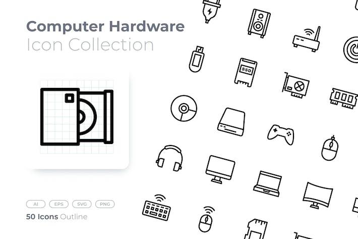 Computer Hardware Gradient Icon