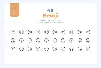 40 Emoji Icons - Material Icon