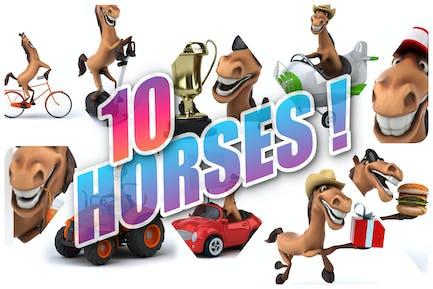 10 lustige Pferde!