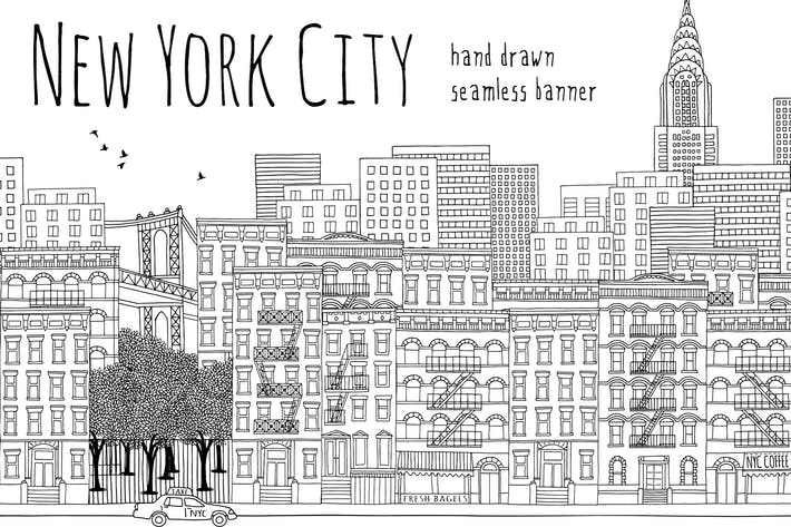 Thumbnail for New York City - Seamless Banner