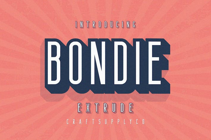 Thumbnail for Bondie Extrude Font Family