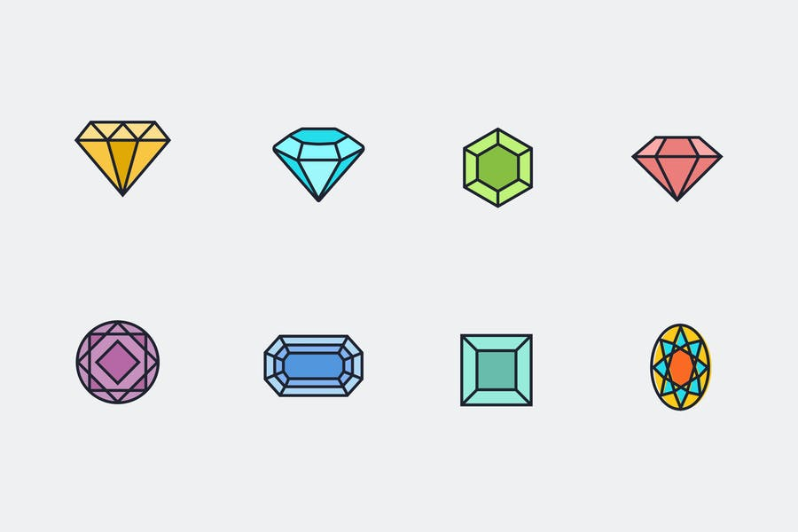 8 Diamond Icons