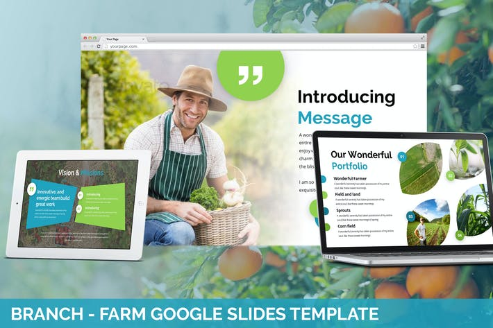 Thumbnail for Branch - Farm Theme Google Slides Template