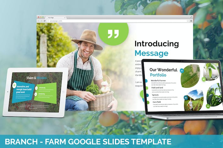 Branch - Farm Theme Google Slides Template