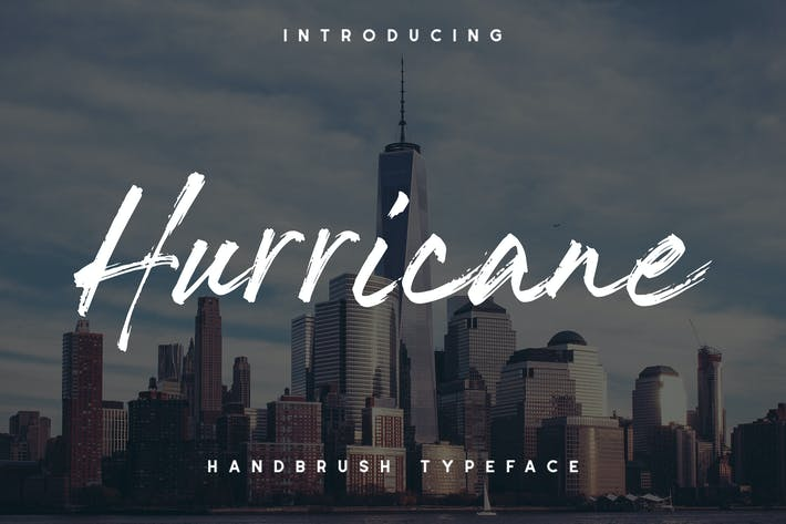 Thumbnail for The Hurricane Handbrush Font