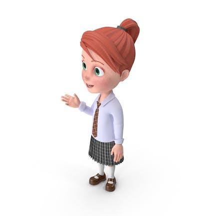 Cartoon Girl Grace Talking
