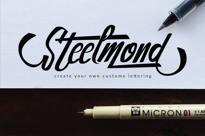 Thumbnail for Steelmond Lettering Logotype Font