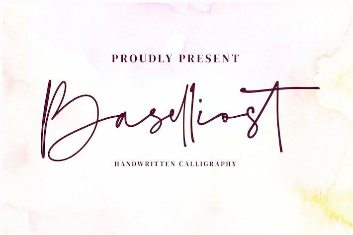 Thumbnail for Baselliost handwritten Script font