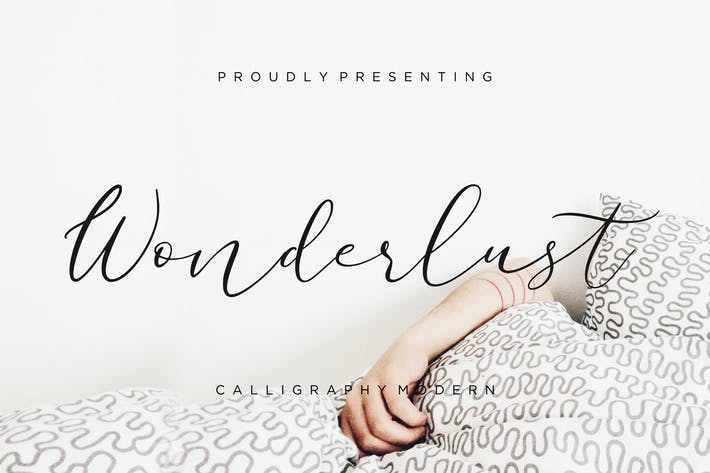 Thumbnail for Wonderlust Calligraphy Modern