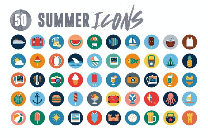 Thumbnail for 50 Summer holiday icons