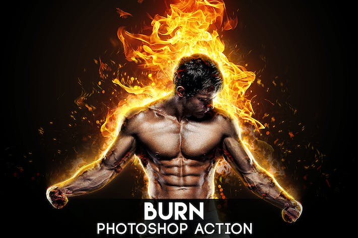 Thumbnail for Burn Photoshop Action