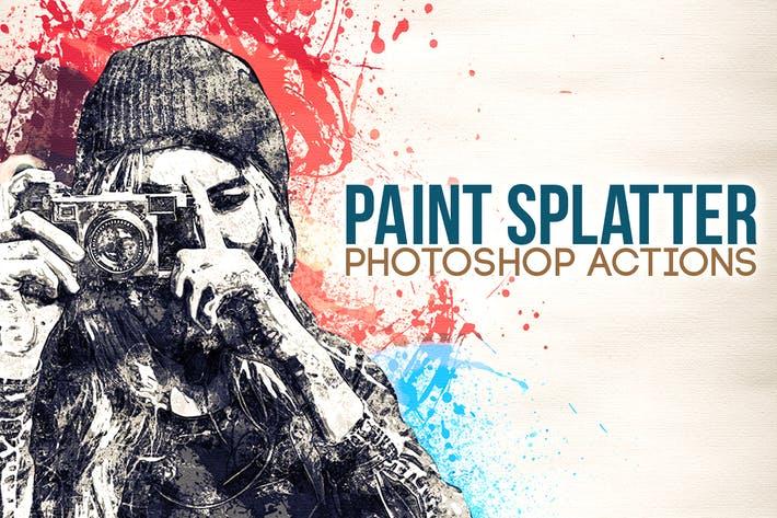 Thumbnail for Paint Splatter - Photoshop Actions