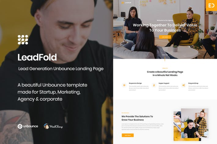 Thumbnail for LeadFold - Lead Generation Unbounce Landing Page