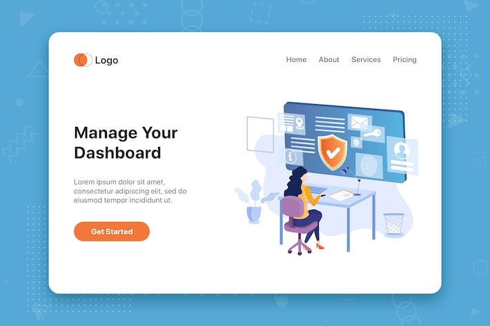 Thumbnail for Manage your dashboard concept for Landing page