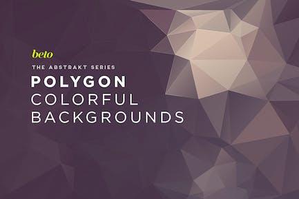 Abstrakte Polygon-Hintergründe