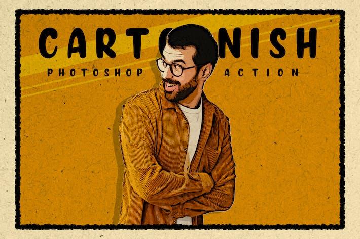 Cover Image For Cartoonish - Modern Cartoon Photoshop Action