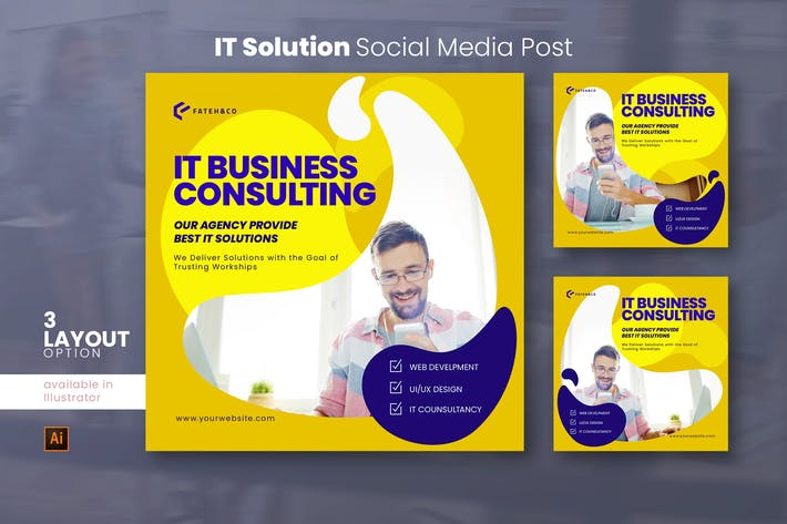 Thumbnail for IT Solution Social Media Post